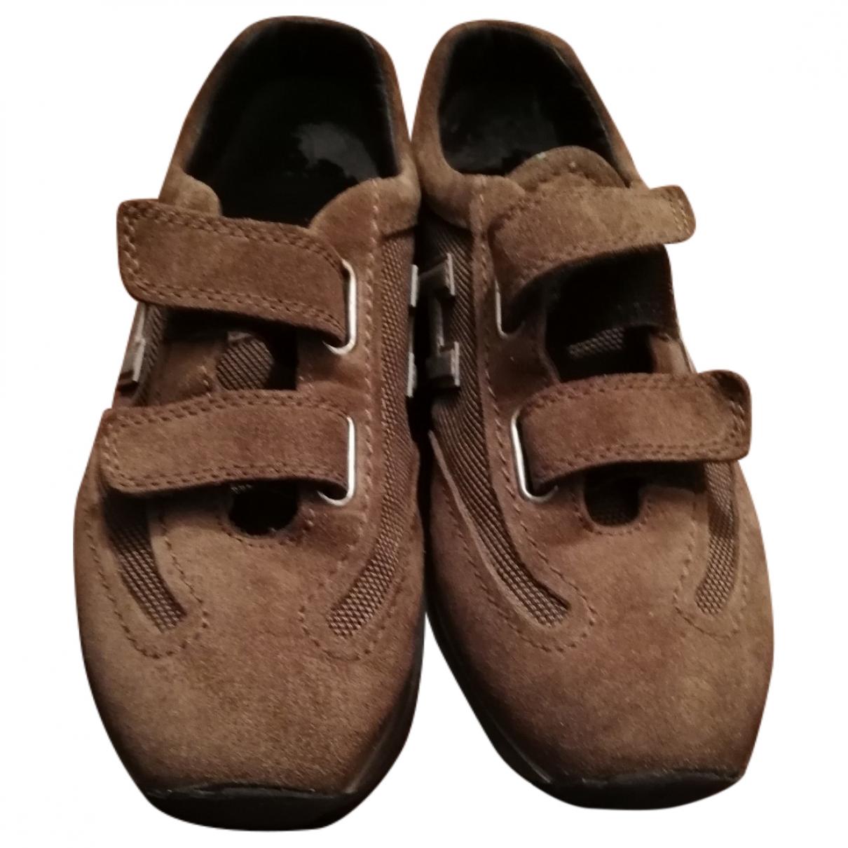 Hogan - Baskets   pour enfant en cuir - marron