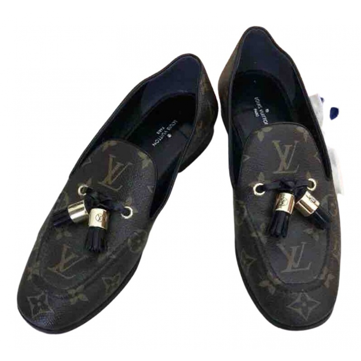 Louis Vuitton \N Brown Leather Flats for Women 38 EU