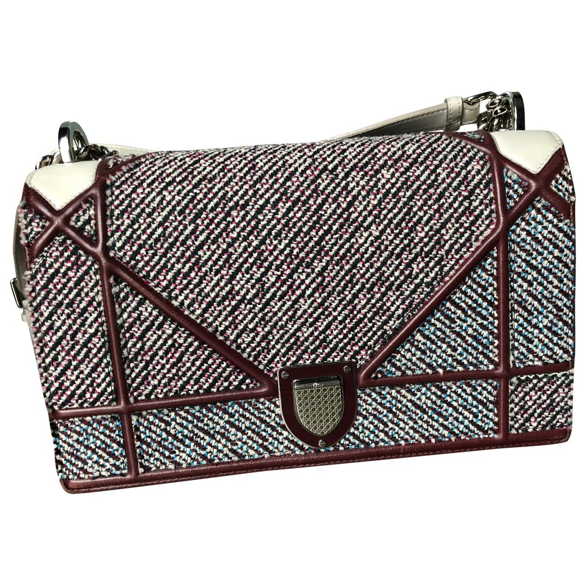 Dior Diorama Burgundy Cloth handbag for Women \N