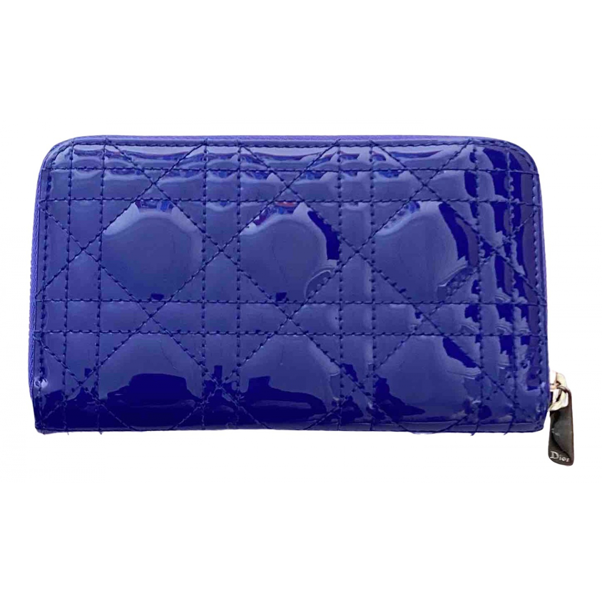 Dior Lady Dior Purple Patent leather wallet for Women \N