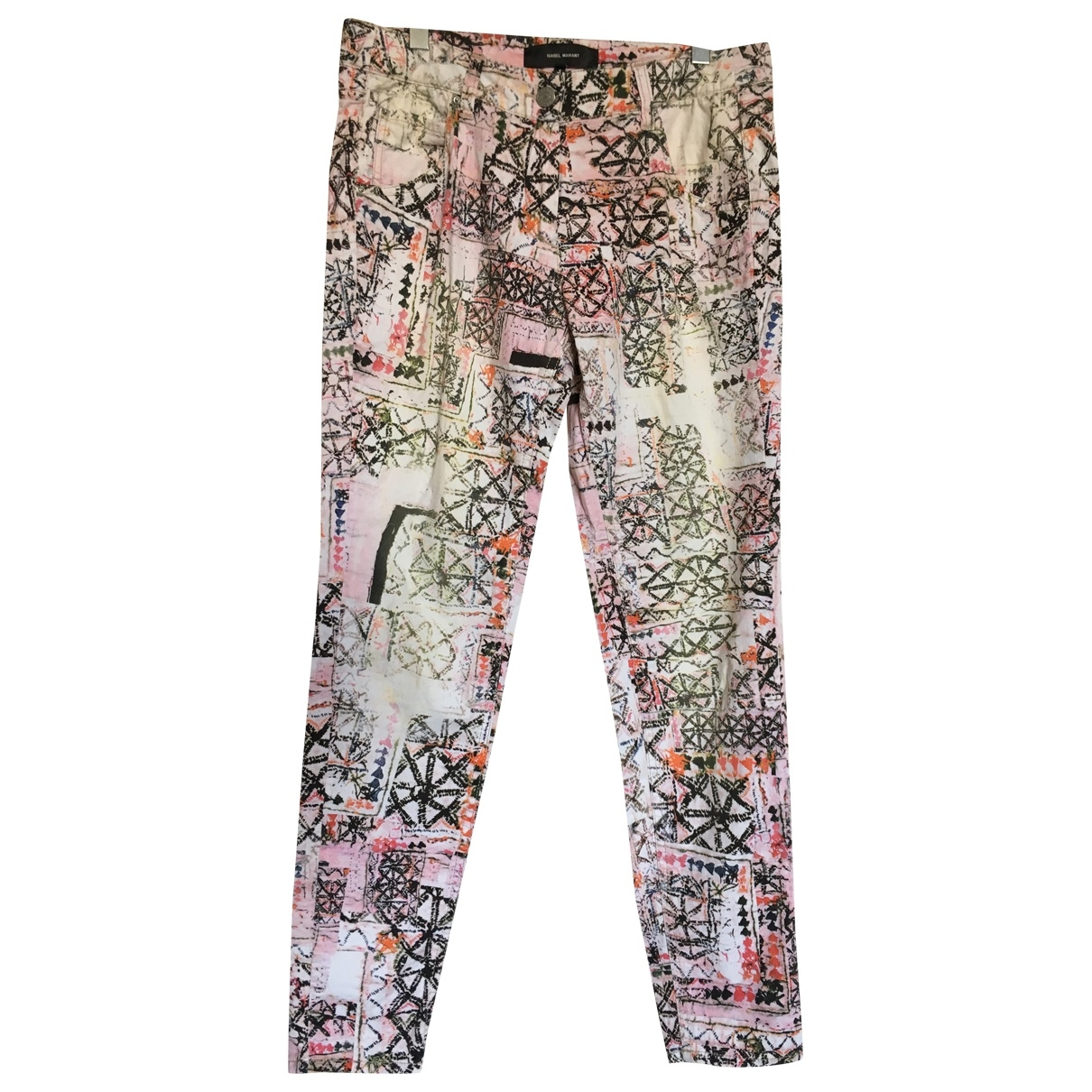 Isabel Marant \N Pink Cotton Trousers for Women 36 FR