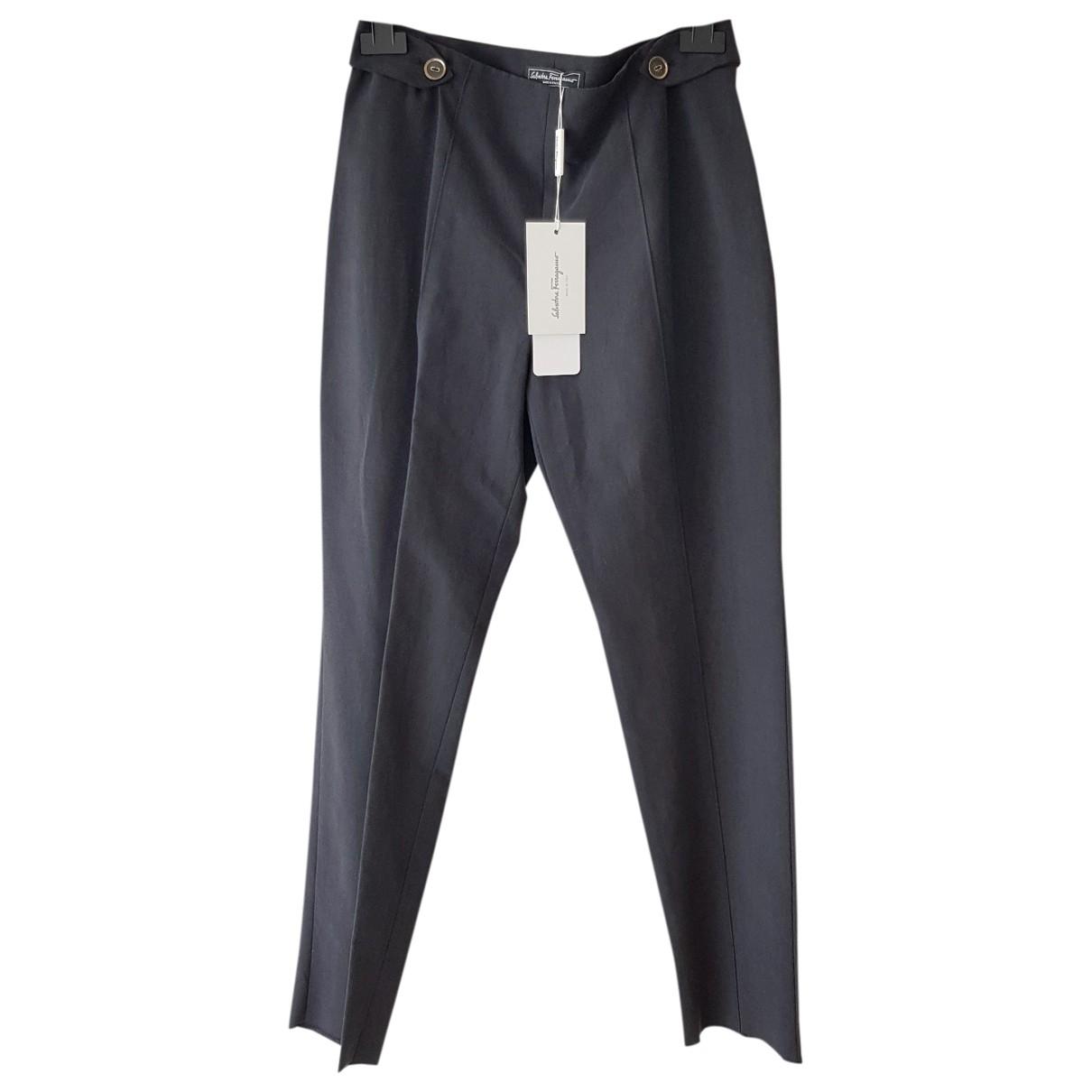 Pantalon recto de Seda Salvatore Ferragamo