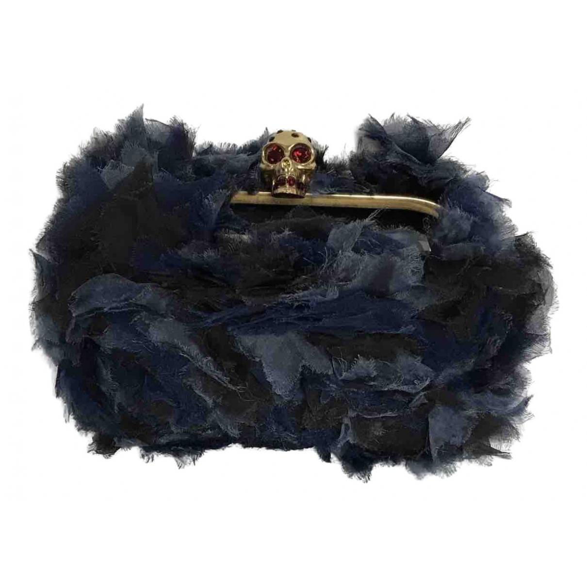 Bolsos clutch Skull en Sintetico Azul Alexander Mcqueen