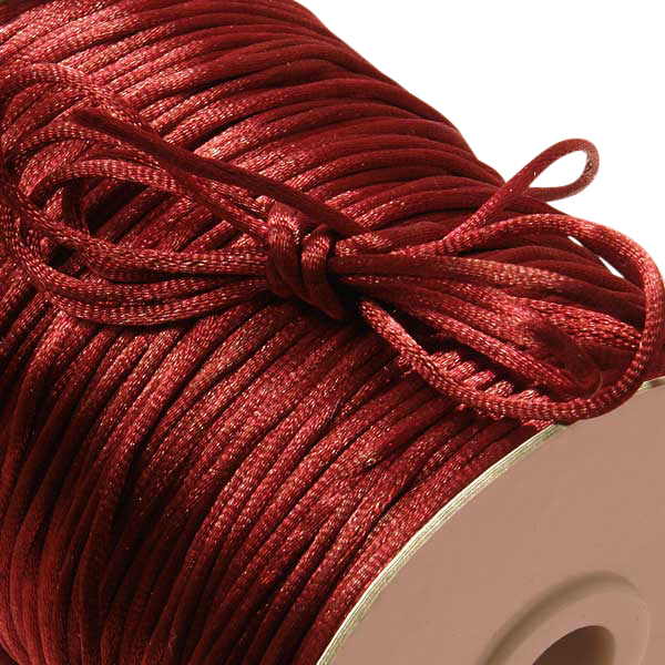Silk Satin Wine Rat Tail Cord 2mm X 200 Yards by Ribbons.com