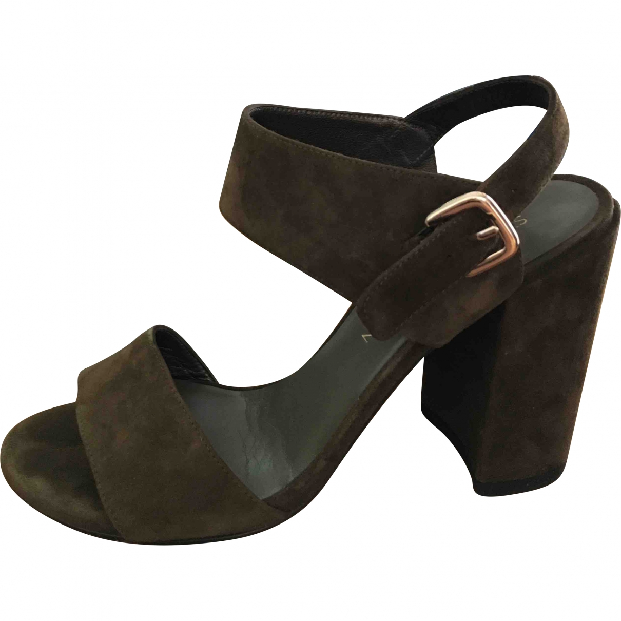 Stuart Weitzman \N Khaki Suede Sandals for Women 38 EU