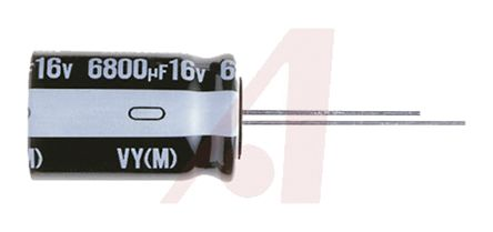 Nichicon 2200μF Electrolytic Capacitor 10V dc, Through Hole - UVY1A222MPD