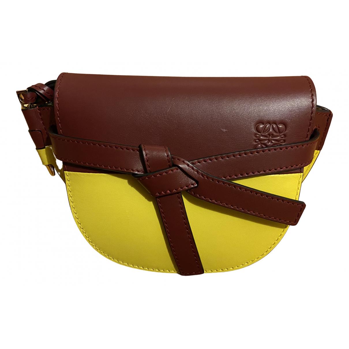Loewe Gate Burgundy Leather handbag for Women N