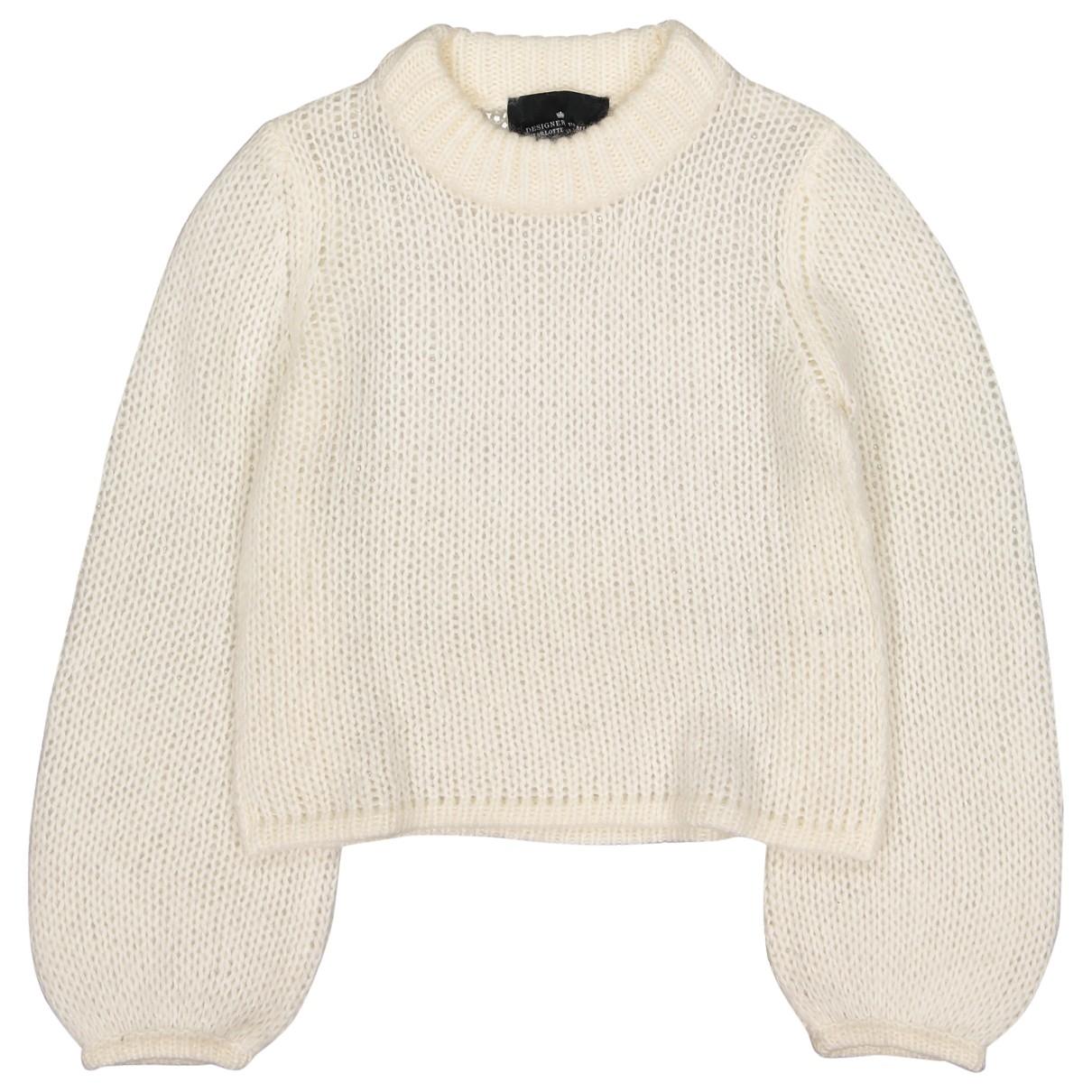 Designers Remix - Pull   pour femme en laine - ecru