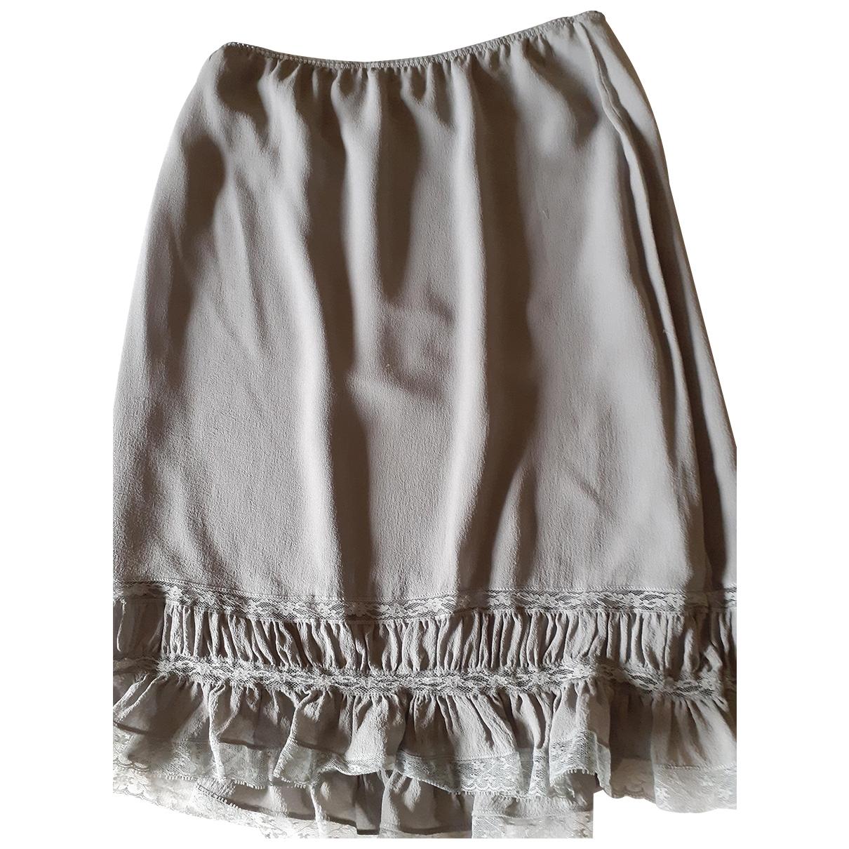 Dkny - Jupe   pour femme en soie - gris
