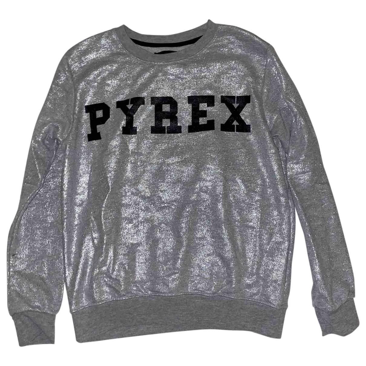 Pyrex - Pull   pour femme en coton - argente