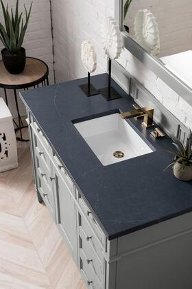Brittany Collection 650-V48-UGR-3CSP 48 Urban Gray Single Vanity with 3 CM Charcoal Soapstone Quartz Top with
