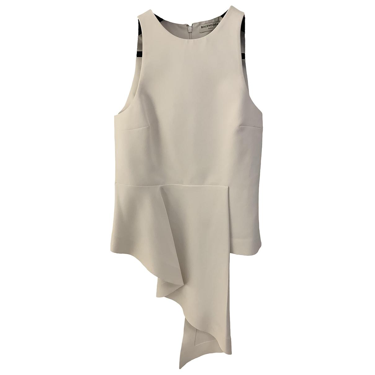 Balenciaga - Top   pour femme - blanc