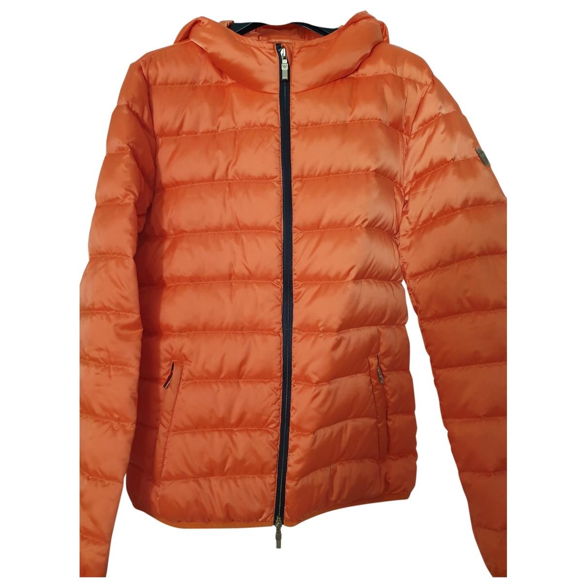 Emporio Armani \N Orange Leather jacket for Women 44 IT