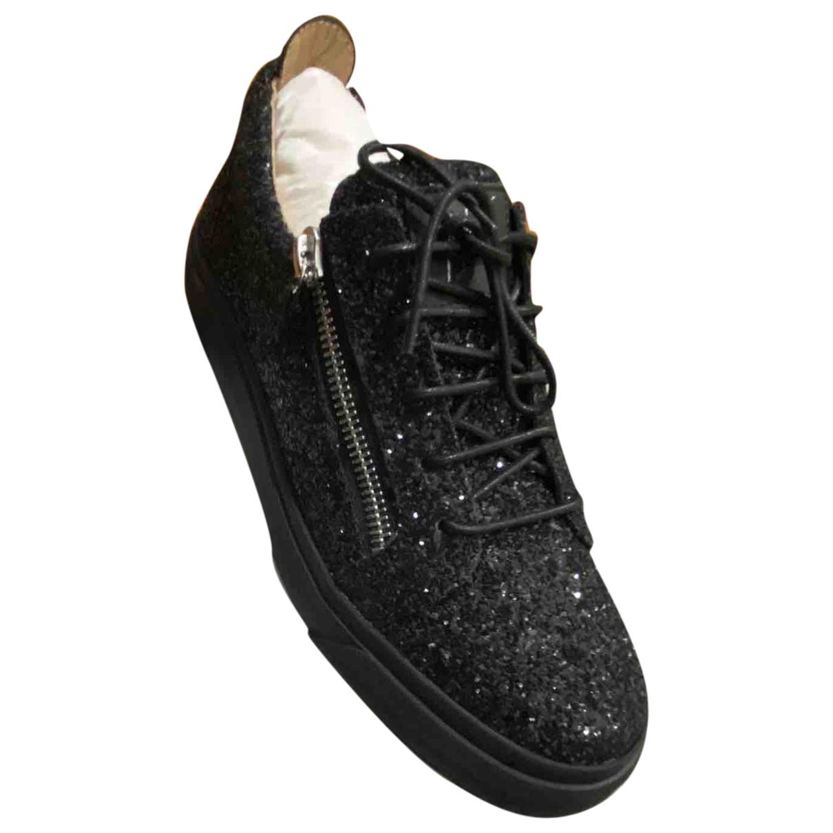 Giuseppe Zanotti - Baskets   pour homme en a paillettes - noir