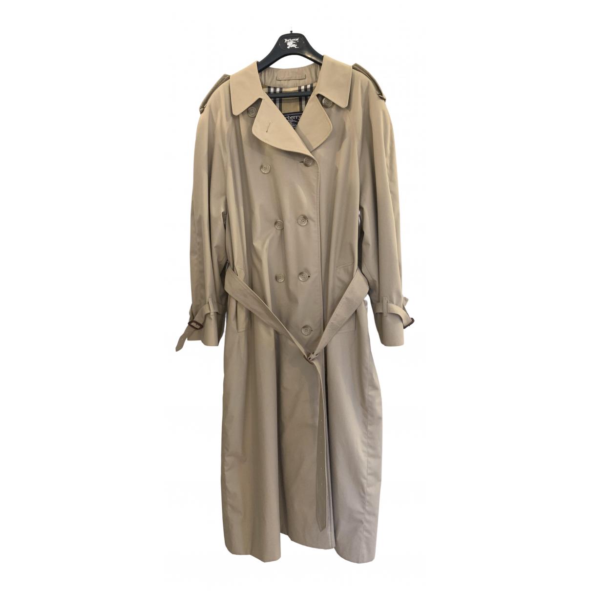 Burberry N Beige Cotton Trench coat for Women XL International
