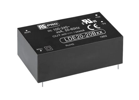 RS PRO , 18W Embedded Switch Mode Power Supply SMPS, 5V dc, Encapsulated