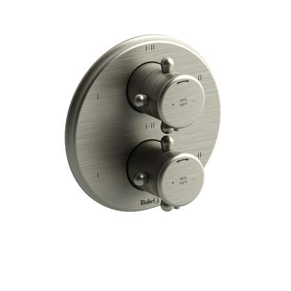 Georgian TGN46BN 4-Way Thermostatic/Pressure Balance Coaxial Valve Trim with Lever Handle  in Brushed