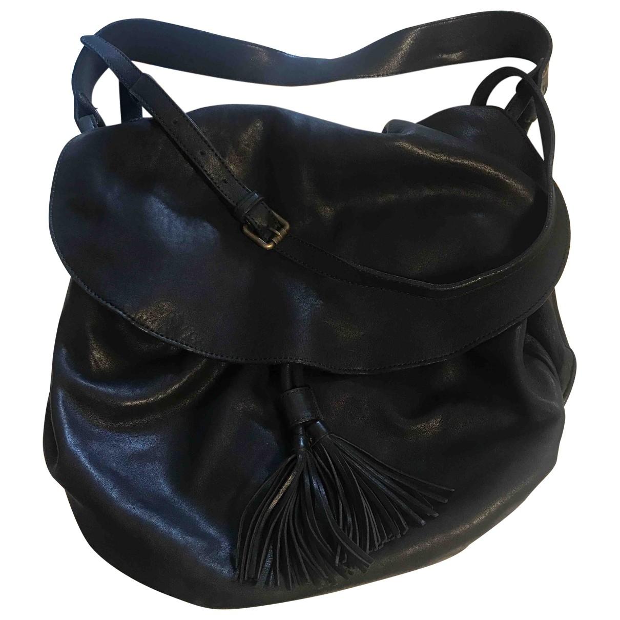 Gerard Darel Pom Bag Black Leather handbag for Women \N