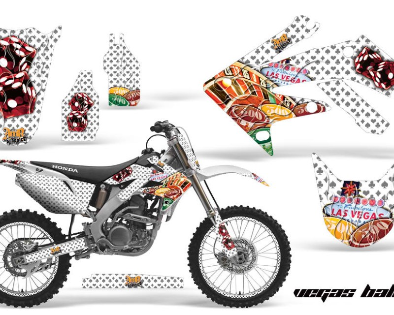 AMR Racing Graphics MX-NP-HON-CRF250R-04-09- Kit Decal Sticker Wrap + # Plates For Honda CRF250R 2004-2009 TRIBAL BLACK RED