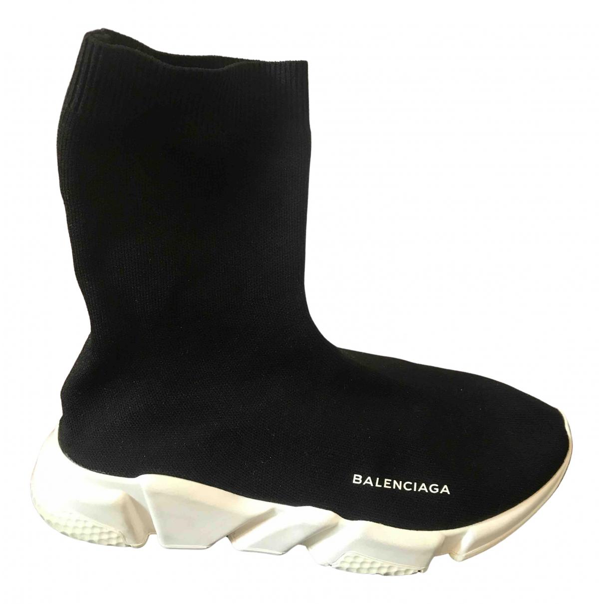 Balenciaga Speed Black Cloth Trainers for Men 42 EU