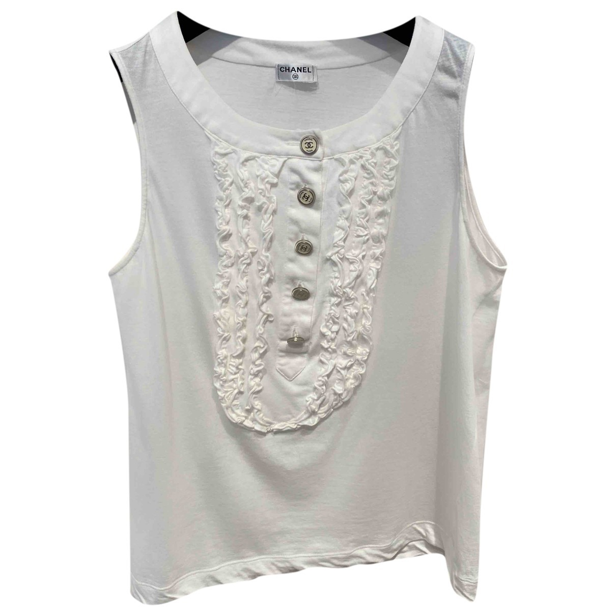 Chanel \N White Cotton  top for Women 38 FR