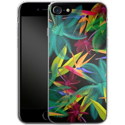 Apple iPhone 8 Silikon Handyhuelle - Bird of Paradise von Mark Ashkenazi