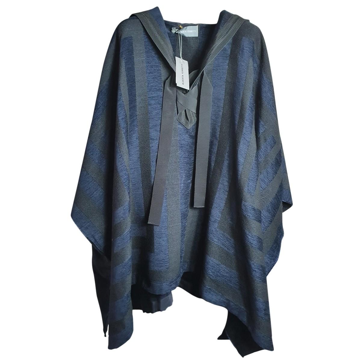 Alberta Ferretti \N Jacke in  Blau Wolle