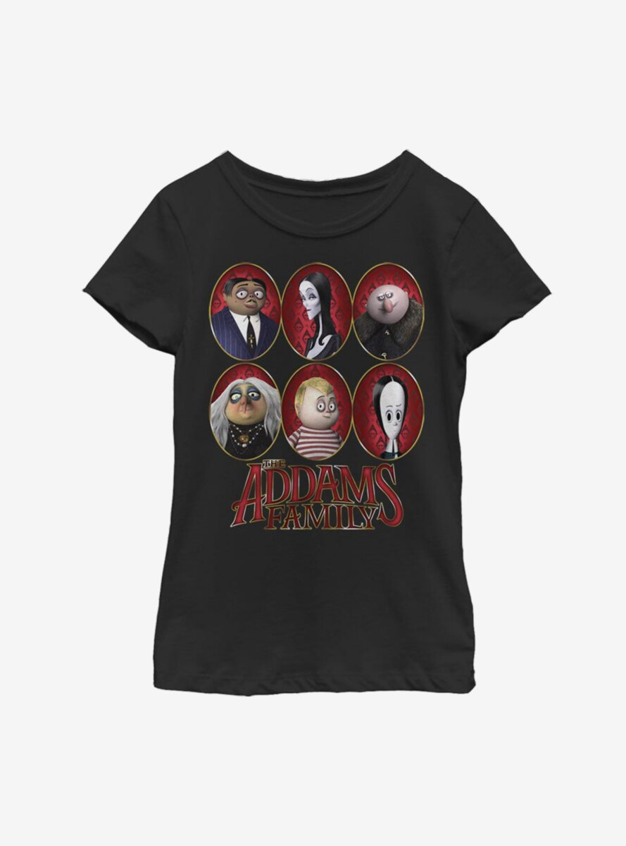 The Addams Family Family Portraits Youth Girls T-Shirt