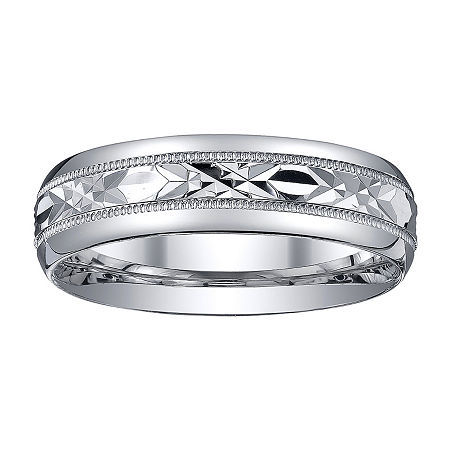 Mens Sterling Silver Wedding Band, 9 , No Color Family