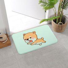 Cartoon Dog Print Floor Mat