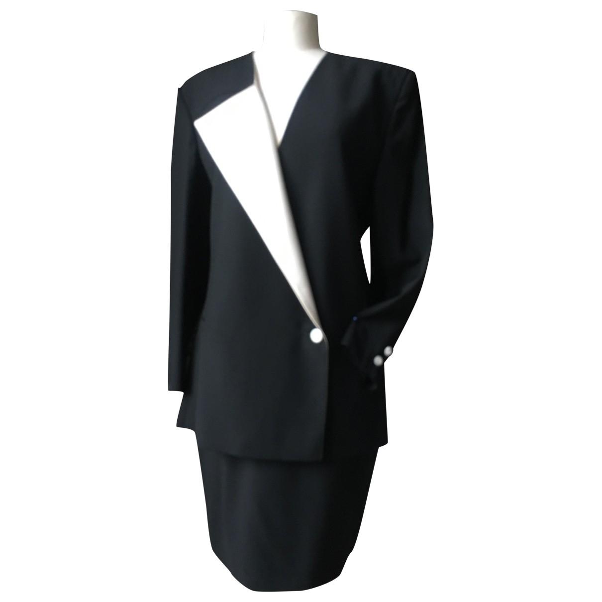 Genny - Robe   pour femme en laine - noir