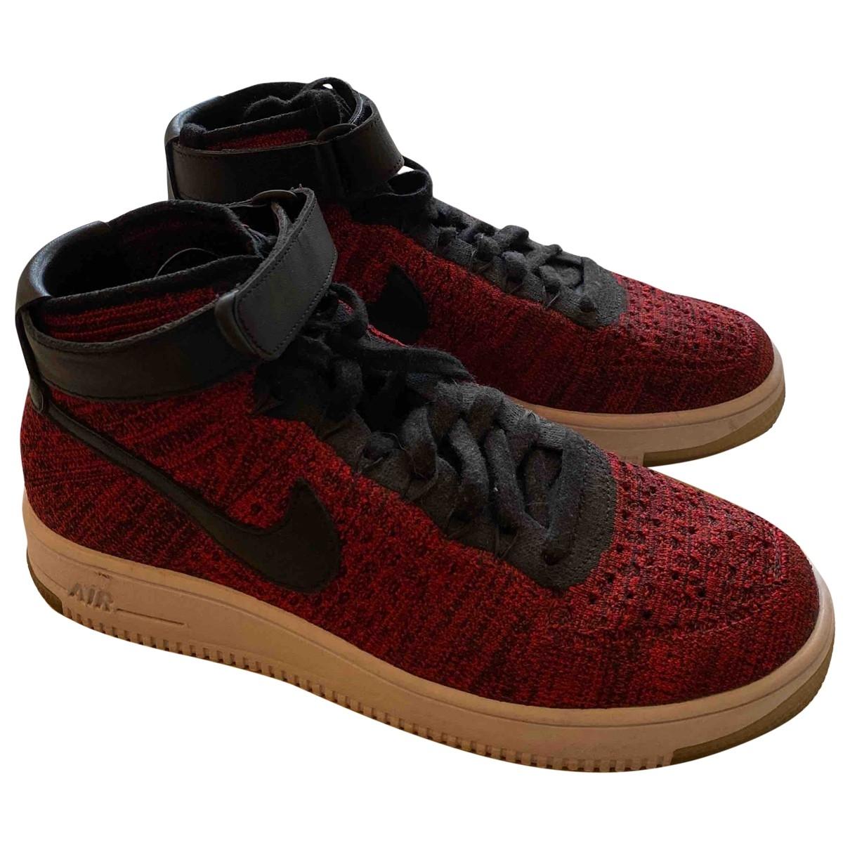 Nike - Baskets Air Force 1 pour homme en toile - rouge