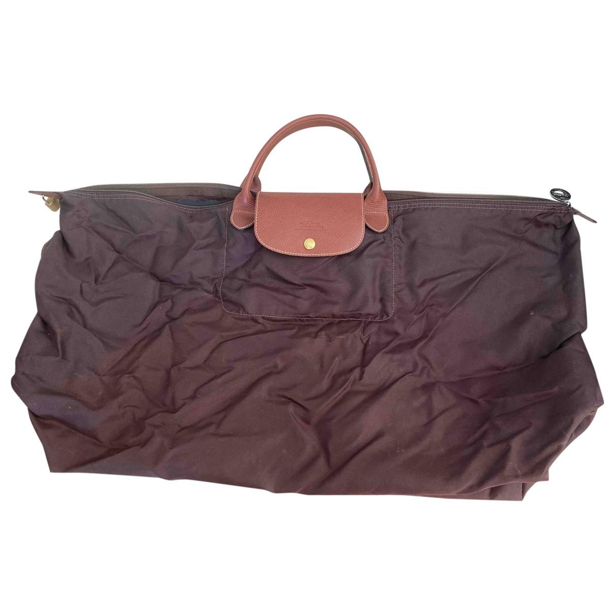 Longchamp Pliage  Reisetasche in  Braun Leinen