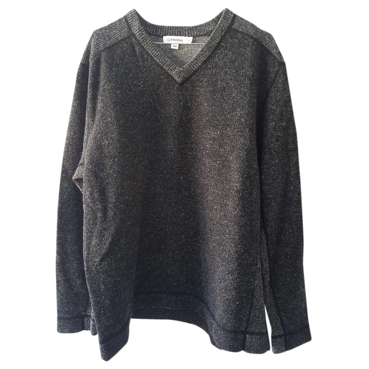 Calvin Klein N Grey Wool Knitwear & Sweatshirts for Men XL International
