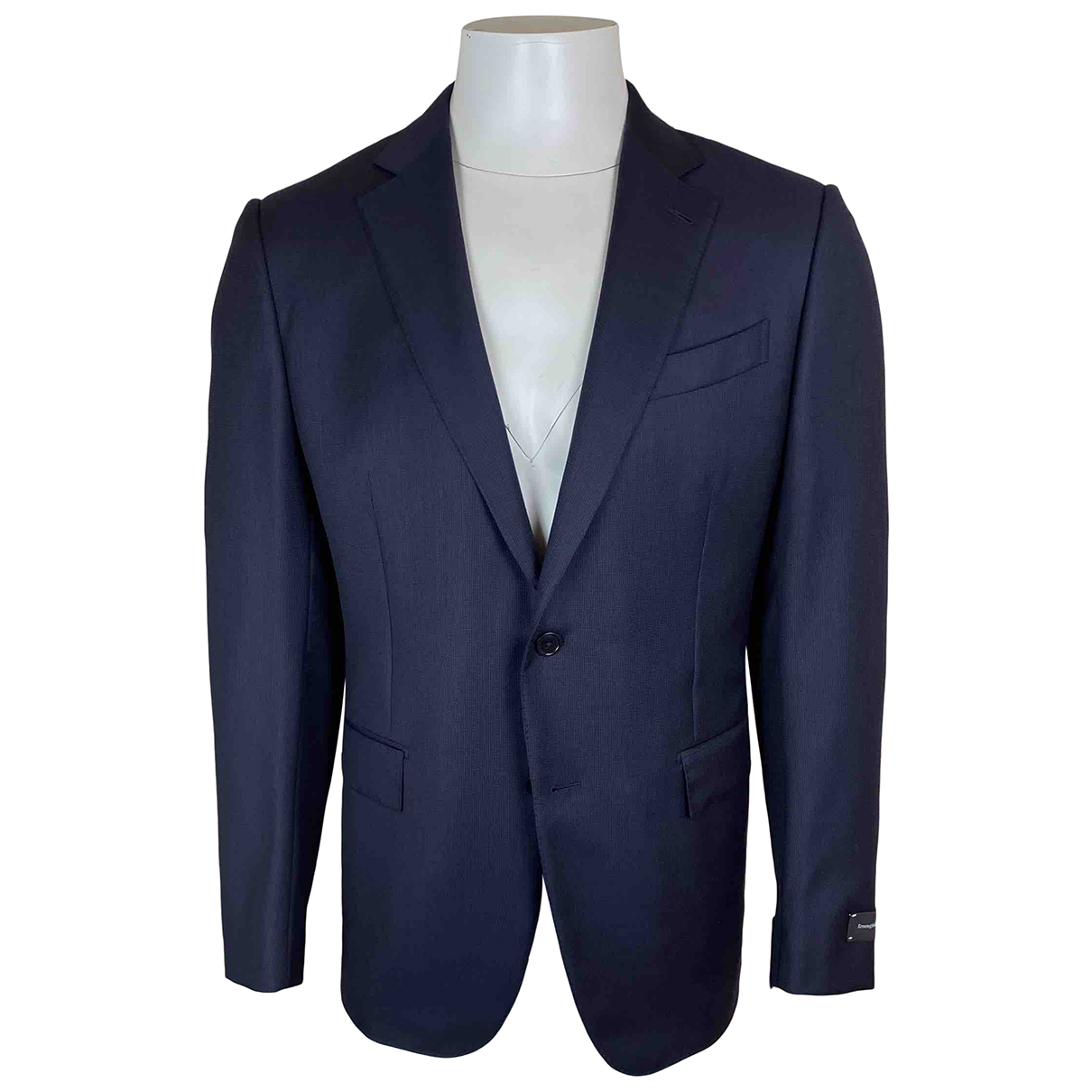 Ermenegildo Zegna N Navy Wool Suits for Men 52 IT