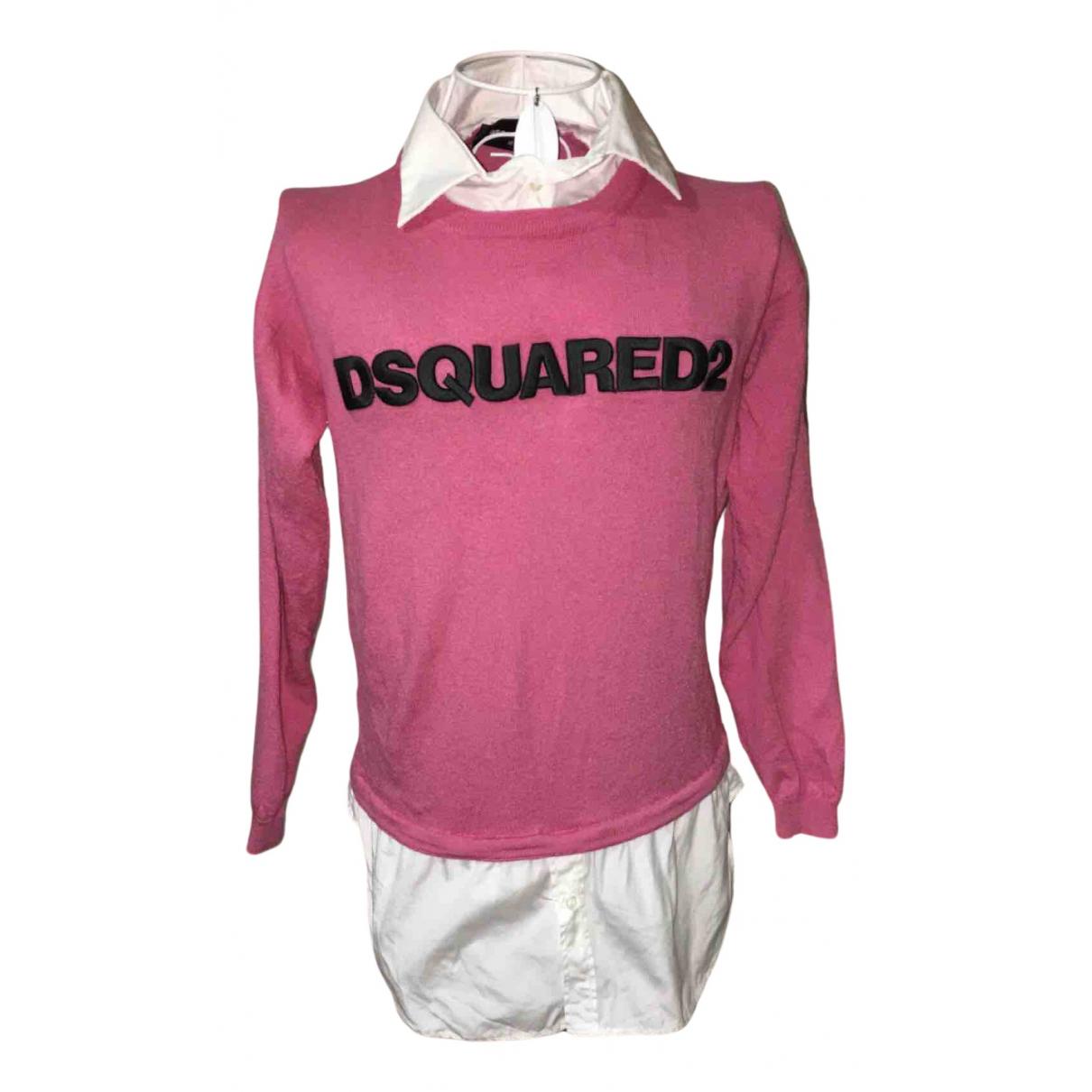 Dsquared2 - Pull   pour femme en laine - rose