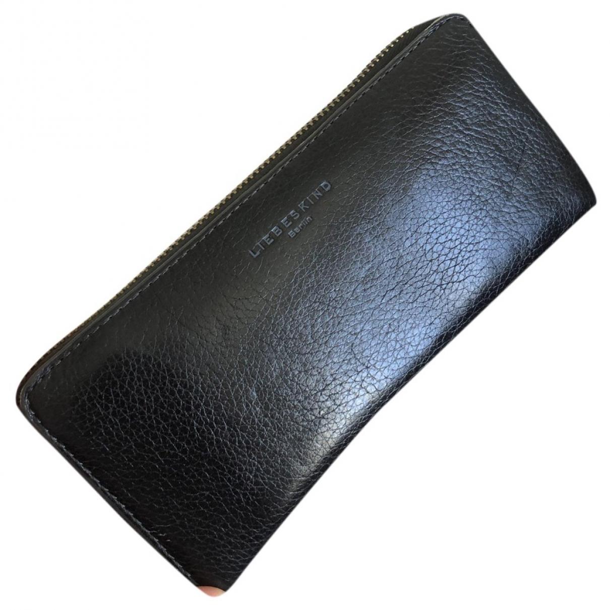 Liebeskind \N Portemonnaie in  Schwarz Leder