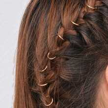 Einfaches Haar Ring Set 10pcs