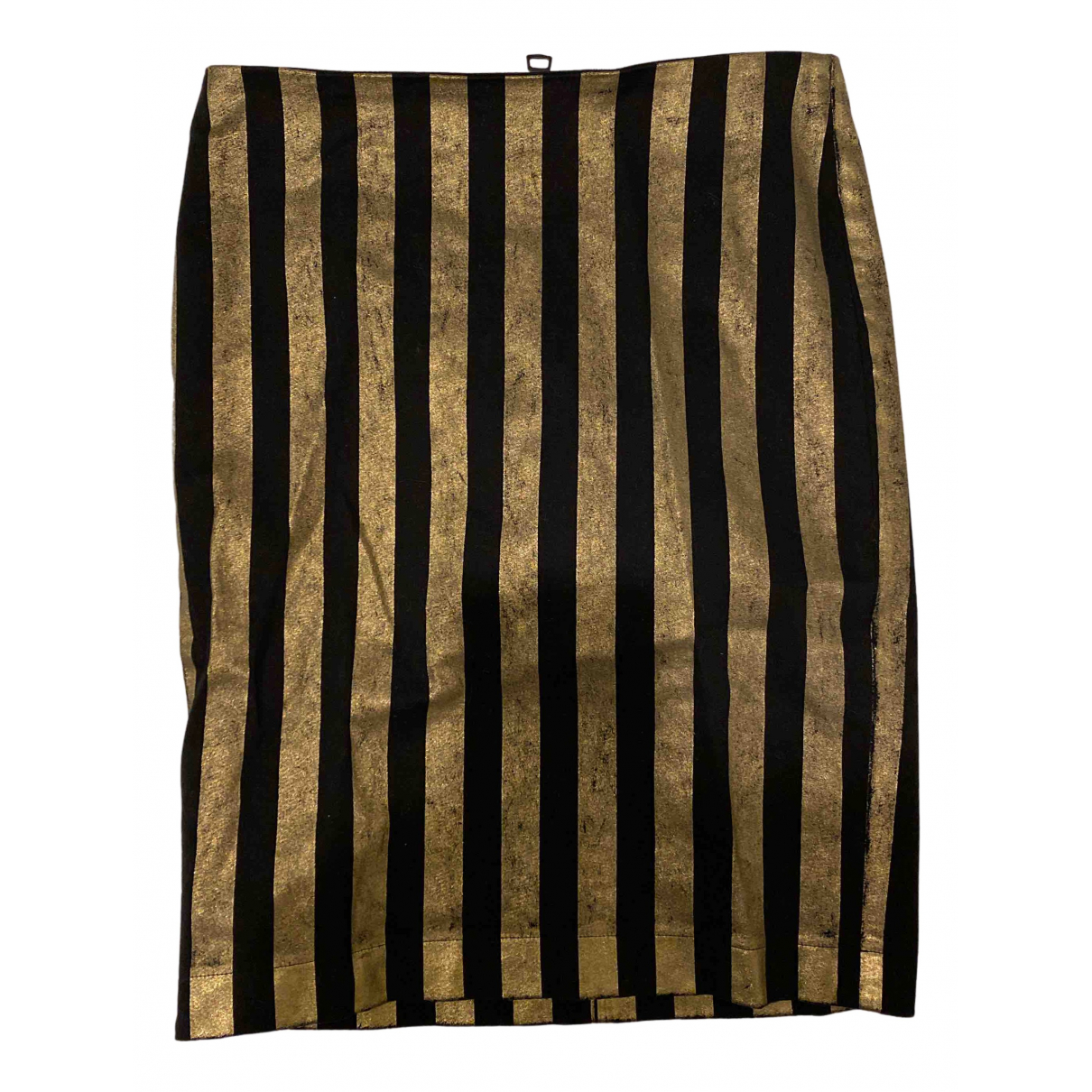 8pm N Black Cotton skirt for Women XXS International