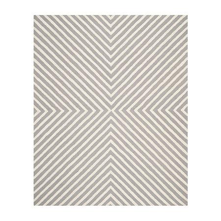 Safavieh Ralph Stripe Hand Tufted Wool Rug, One Size , Silver