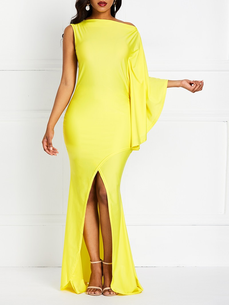 Ericdress Floor-Length Three-Quarter Sleeve Pullover Plain Dress