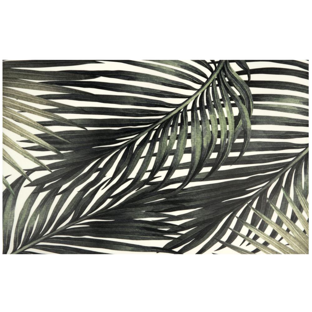 Vinyl-Teppich mit tropischem Blattmuster 50x80