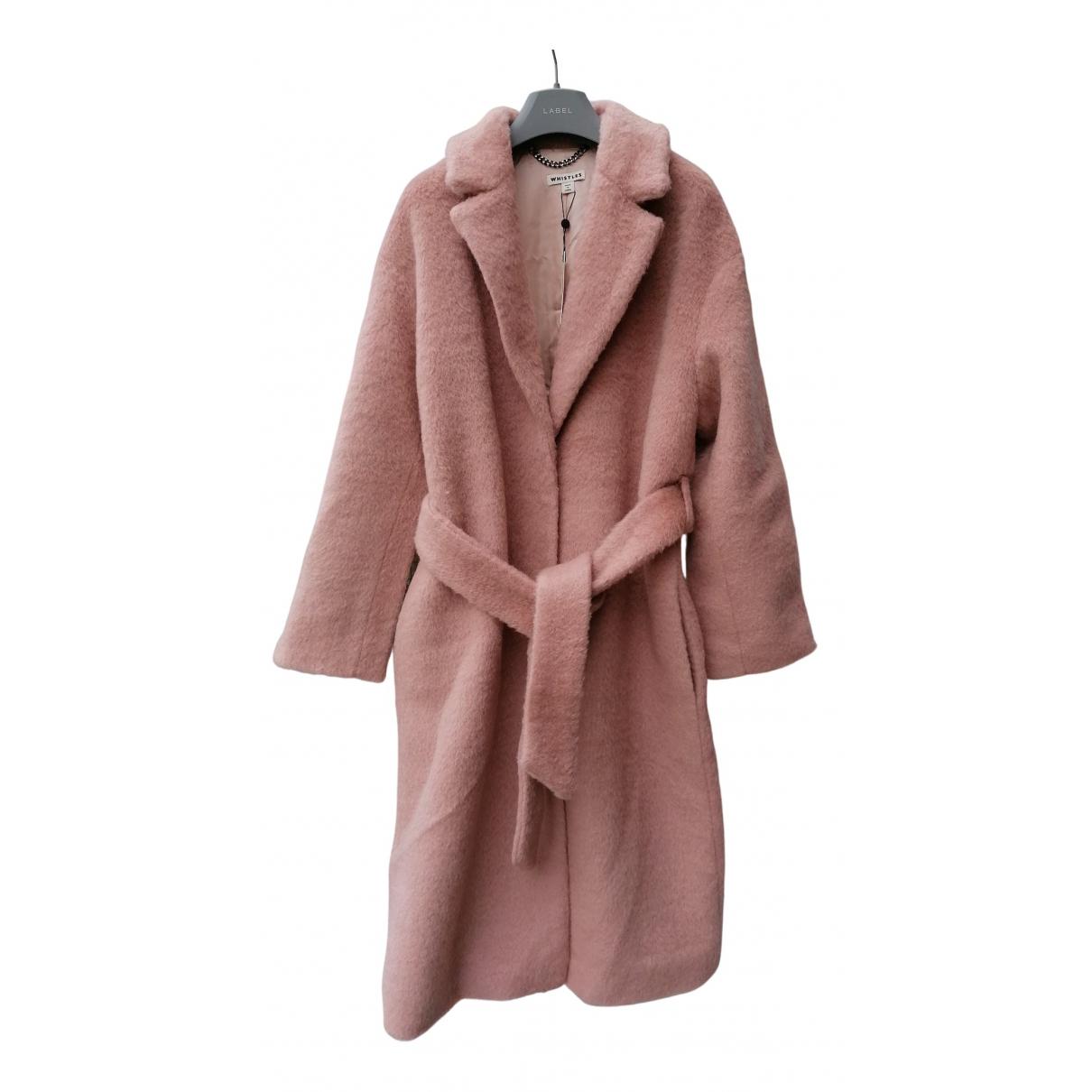 Whistles - Manteau   pour femme en laine - rose