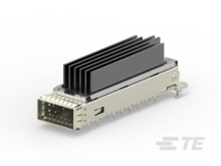 TE Connectivity , CFP4 6 Way 1 Port Female Right Angle Network Connector 0.6mm Pitch Press-In Termination (18)