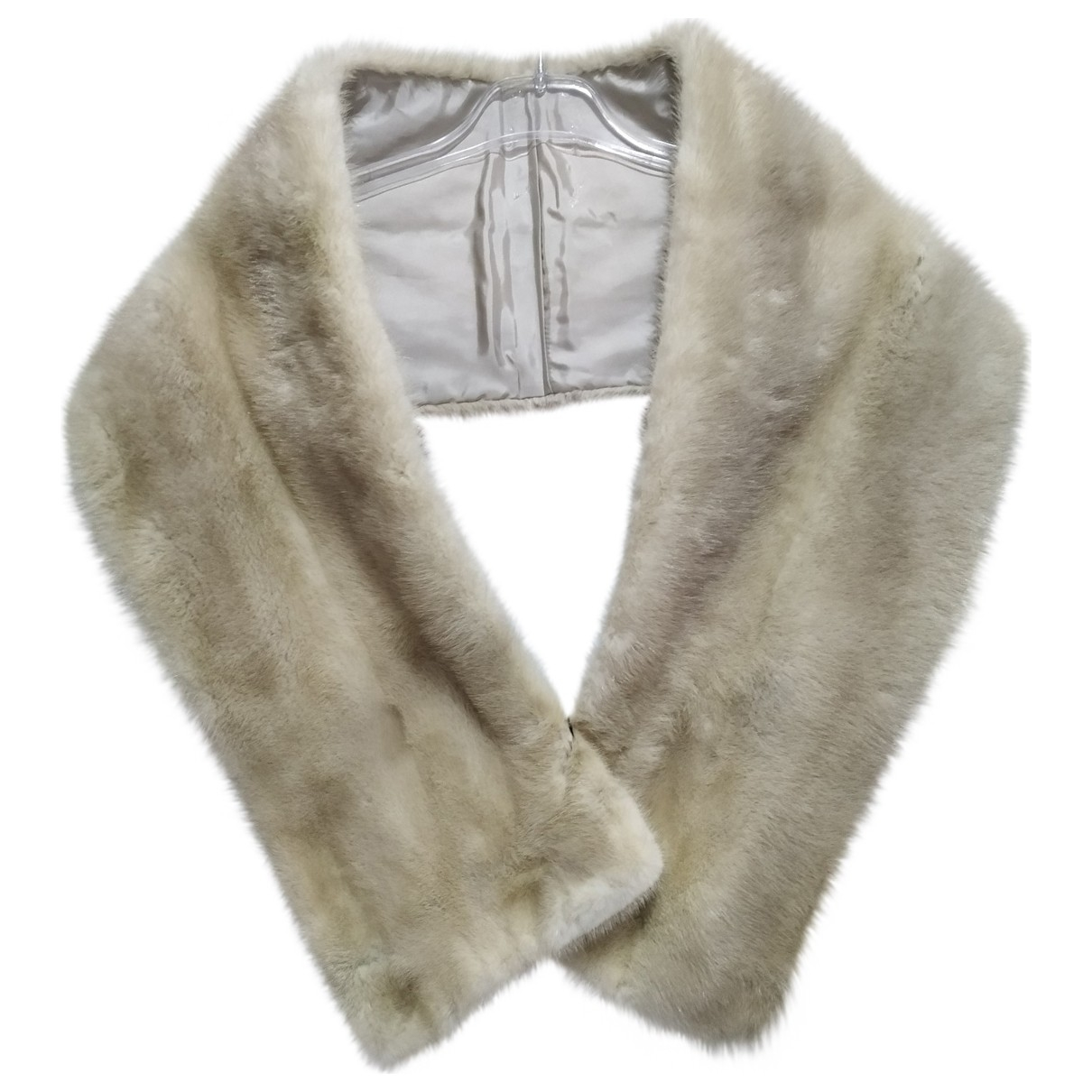 - Foulard   pour femme en vison - beige