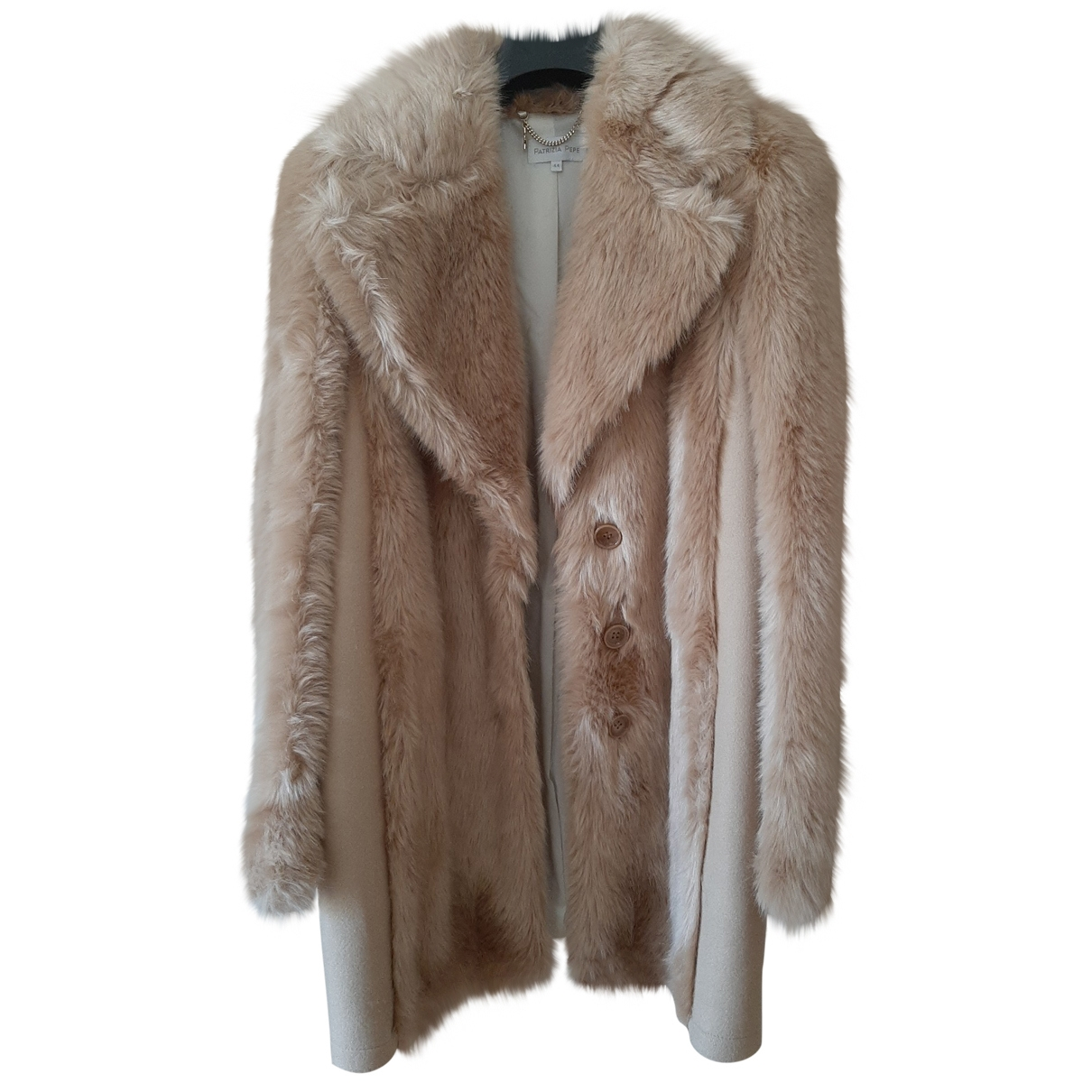 Patrizia Pepe \N Beige Faux fur coat for Women 44 IT