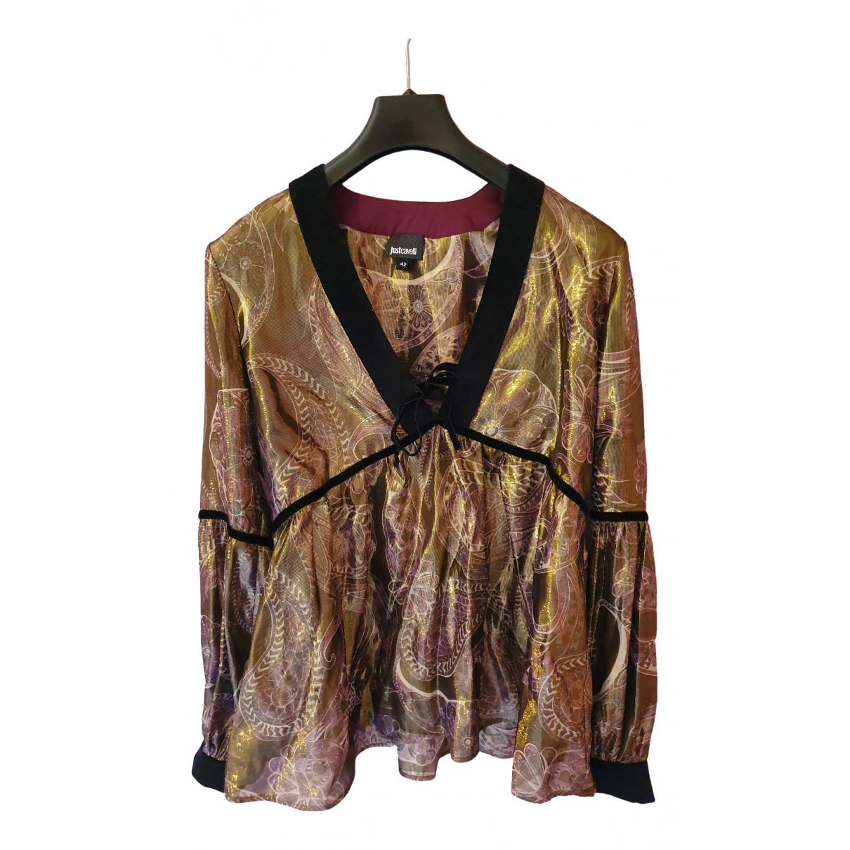 Just Cavalli \N Gold Silk  top for Women 38 FR