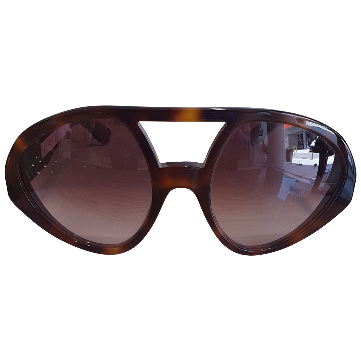 Valentino Garavani \N Sonnenbrillen in  Braun Kunststoff