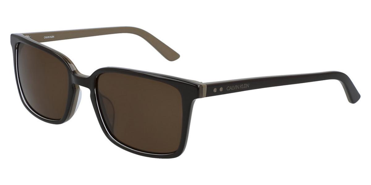 Calvin Klein CK19504S 203 Men's Sunglasses Brown Size 56