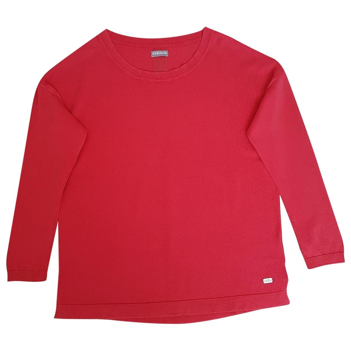 Napapijri \N Pullover in  Rot Baumwolle